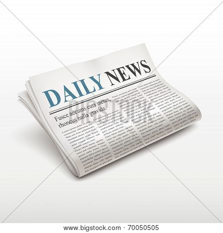 Daily News Words On Newspaper