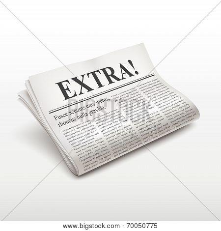 Extra Word On Newspaper