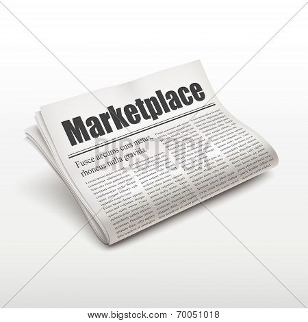 Marketplace Word On Newspaper