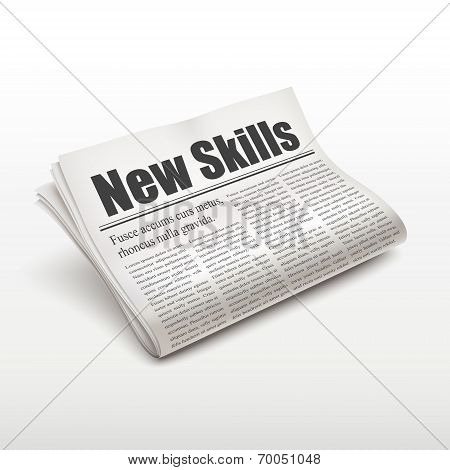 New Skills Words On Newspaper