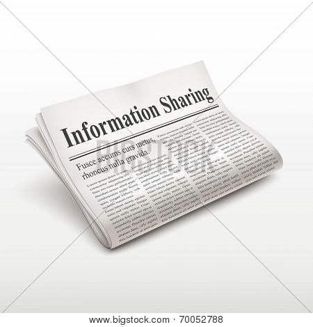 Information Sharing Words On Newspaper