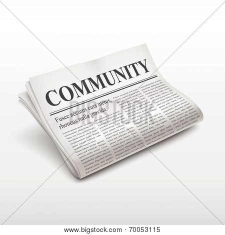 Community Word On Newspaper