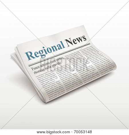 Regional News Words On Newspaper