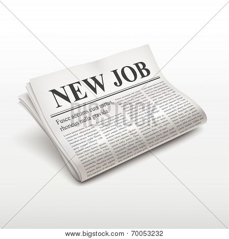 New Job Words On Newspaper
