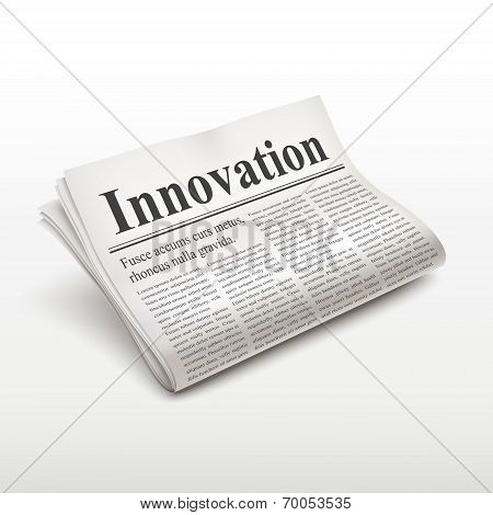 Innovation Word On Newspaper