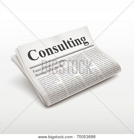 Consulting Word On Newspaper
