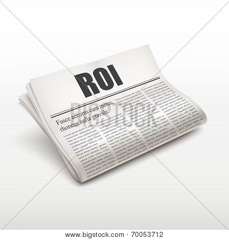 Roi Word On Newspaper
