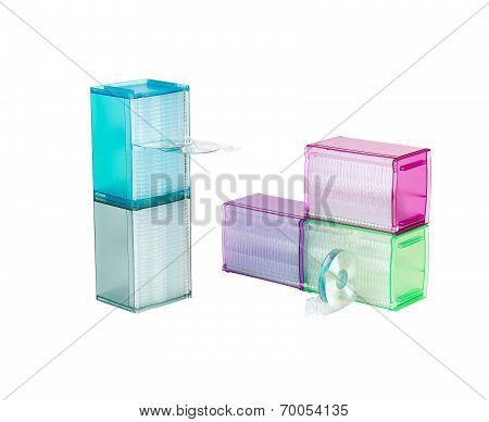 cd or dvd plastic box