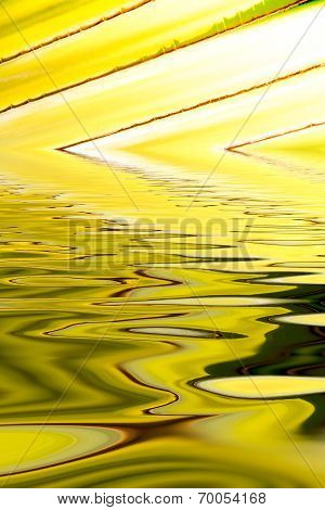 Abstract Background Of Leaf  Refection Wave Line On Water Surface