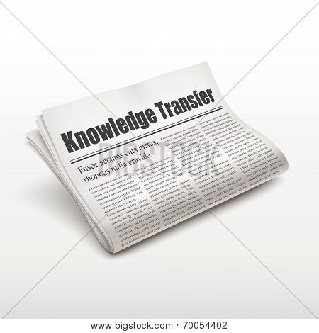 Knowledge Transfer Words On Newspaper