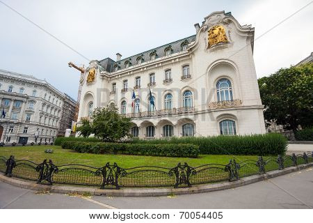 French Embassy Building In Vienna City