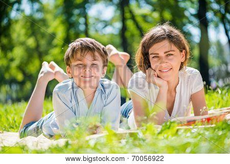 Family at park