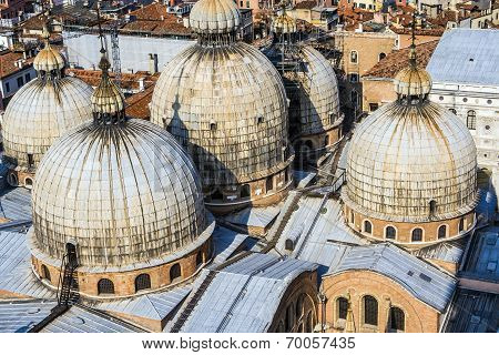 Cupola Of St. Marco Church In Venice