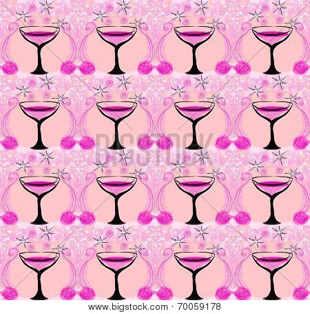 Wine Glasses Pattern