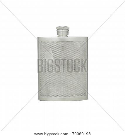 Outdoor pewter flask for water or alcohol