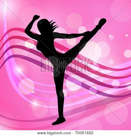 Yoga Dancing Represents Meditated Disco And Posing