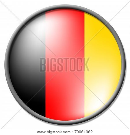 German Badge Indicates National Flag And Badges