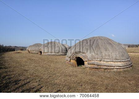 Zulu beehive huts