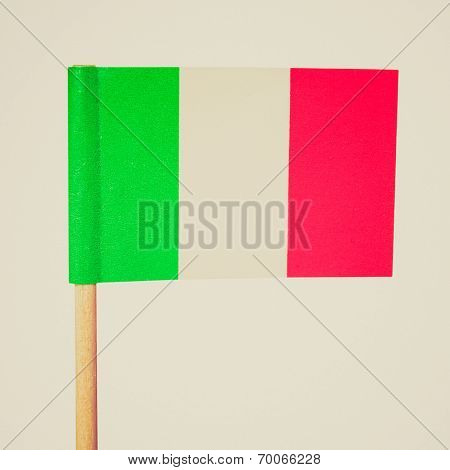 Retro Look Italian Flag