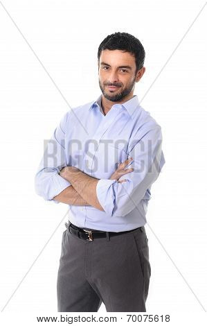 Young Attractive Business Man Standing In Corporate Portrait Isolated On White Background
