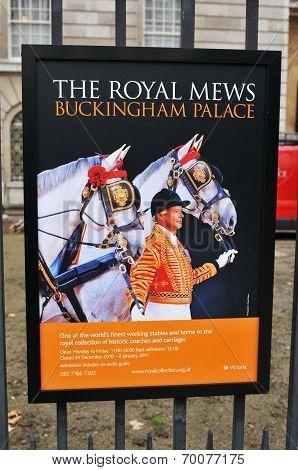 Royal Mews at Buckingham Palace
