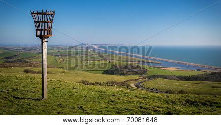 Beacon On A Hill Overlooking Abbotsbury Priory