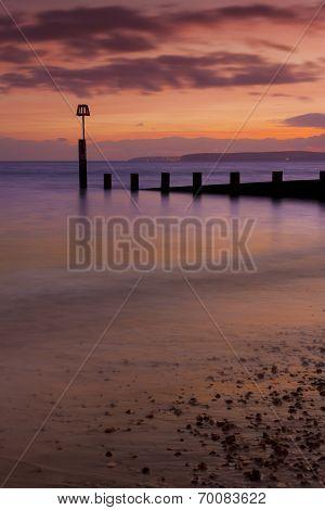 Bournemouth Beach At Sunset