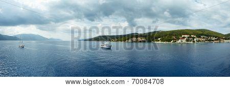Sea Summer Coastline Panorama (greece)