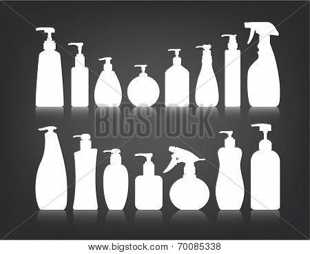 Cosmetics Bottle Packaging Vector