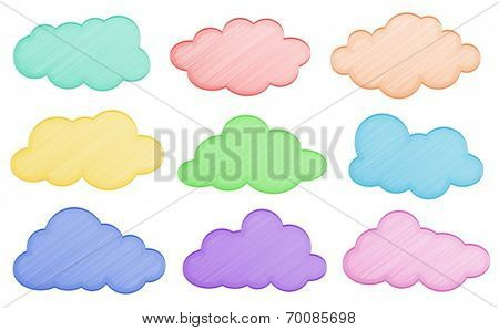 Ilustration of different colors of clouds