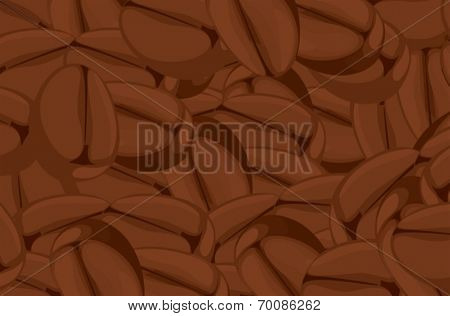 Ilustration of a close up coffee beans