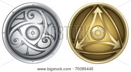 Illustration of vikings shields