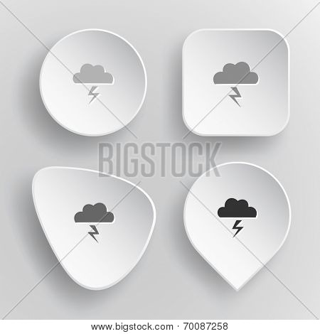 Storm. White flat raster buttons on gray background.
