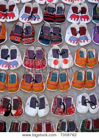 Handmade Laotian Baby Shoes