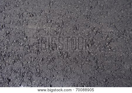 Black fresh asphalt layerasphalt road surface - Road Construction