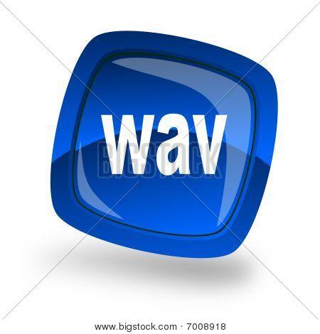 Icono azul de Wav