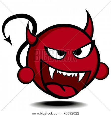 detailed illustration of a stylized red devil, eps10 vector