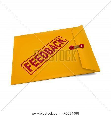Feedback Stamp On Manila Envelope