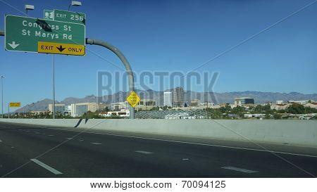 Exit to Downtown, Tucson, AZ