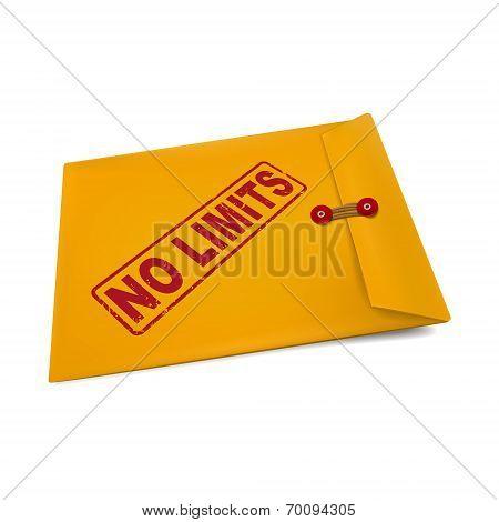 No Limits Stamp On Manila Envelope