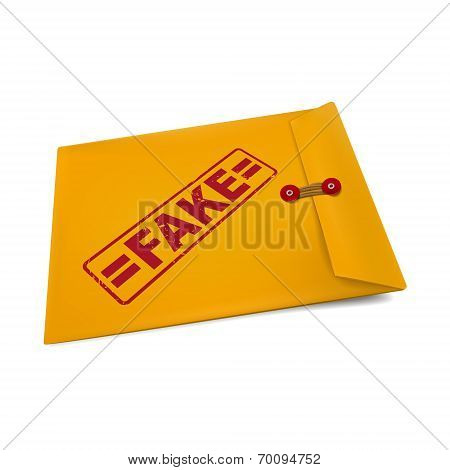 Fake On Manila Envelope