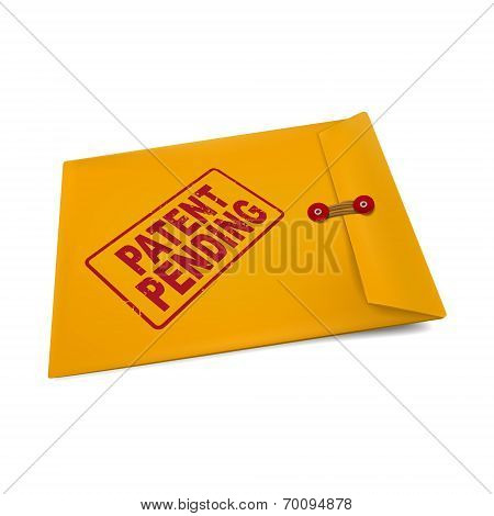 Patent Pending On Manila Envelope
