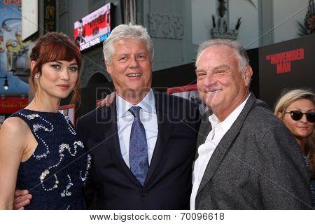 LOS ANGELES - AUG 13:  Olga Kurylenko, Roger Donaldson, Bill Smitrovich at