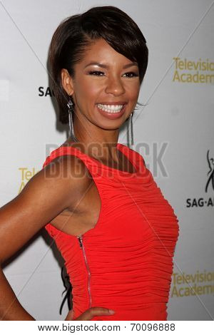 LOS ANGELES - AUG 12:  Angel Parker at the Dynamic & Diverse:  A 66th Emmy Awards Celebration of Diversity Event at Television Academy on August 12, 2014 in North Hollywood, CA