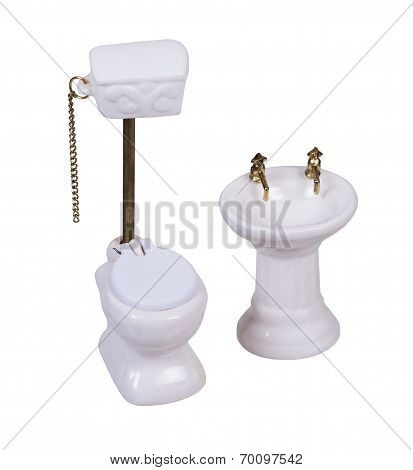 Porcelain Toilet With Pull Chain