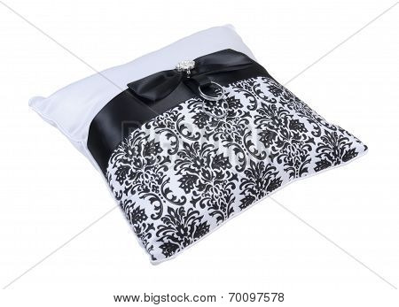 Ring Bearer Pillow With Two Rings