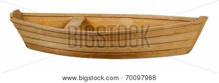 Wooden Boat With Bench