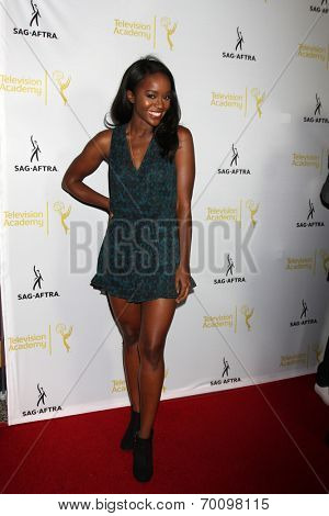 LOS ANGELES - AUG 12:  Aja Naomi King at the Dynamic & Diverse:  A 66th Emmy Awards Celebration of Diversity Event at Television Academy on August 12, 2014 in North Hollywood, CA