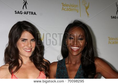 LOS ANGELES - AUG 12:  Karla Souza, Aja Naomi King at the Dynamic & Diverse:  A 66th Emmy Awards Celebration of Diversity Event at Television Academy on August 12, 2014 in North Hollywood, CA