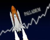 picture of palladium  - Palladium rising chart stock market commodity graph - JPG